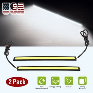 Waterproof 17cm Cob Car Led Lights White 12v For Drl Fog Light Driving Lamp 2x