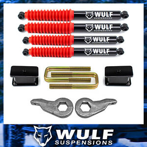 3 Front 3 Rear Lift Wulf Shocks Kit 88 98 Chevy Gmc Silverado Sierra 1500 4x4
