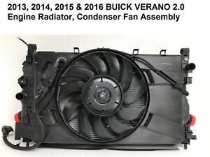 2013 2016 Buick Verano 2 0l Radiator Cooling Fan Condenser Assembly 22966242