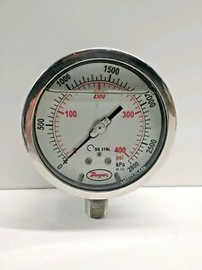 New Old Stock Dwyer 0 400 Psi 4 Pressure Gauge Sg1 f09