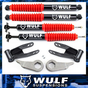 3 2 Lift Leveling Wulf Shocks Kit 1998 2011 Ford Ranger 4x4 4wd Shackles