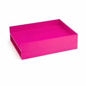 Poppin Letter Tray Pink Set Of 2