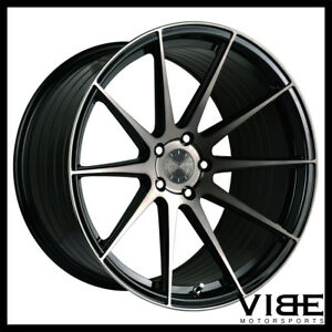 19 Vertini Rf1 3 Black Forged Concave Wheels Rims Fits Lexus Gs300 Gs400 Gs430