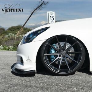 19 Vertini Rf1 3 Black Concave Wheels Rims Fits Infiniti G37 G37s Coupe