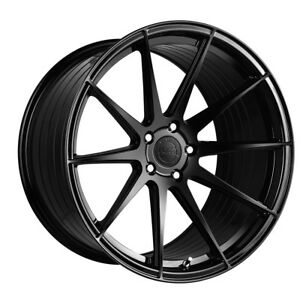 19 Vertini Rf1 3 Gloss Black Forged Concave Wheels Rims Fits Tesla Model S