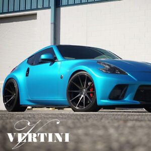 19 Vertini Rf1 3 Black Forged Concave Wheels Rims Fits Nissan 370z