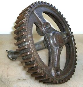 8 Cycle Aermotor Pump Jack Gear And Shaft Old Gas Engine Hit And Miss
