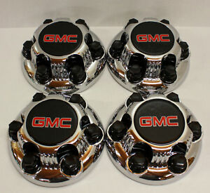 4x Chrome Gmc Sierra Yukon Savana 6 Lugs 1500 Wheel Center Hub Caps 16 17