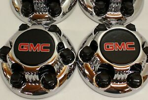2x Chrome Gmc Sierra Yukon Savana 6 Lugs 1500 Wheel Center Hub Caps 16 17