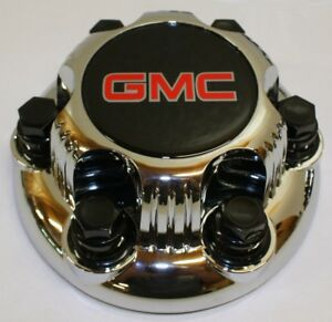 1x Chrome Gmc Sierra Yukon Savana 6 Lugs 1500 Wheel Center Hub Caps 16 17