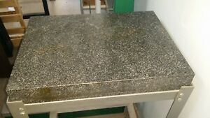 Granite Inspection Table On Stand Without Casters 24 X 18 X 6 3 8 Very Nice