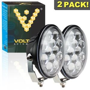 2 Pcs 5 Inch Round 8000k 36w Led Spotlight Fog Light Atv 4x4 Auxiliary Utility