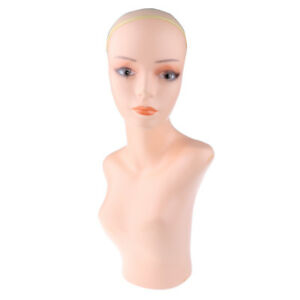 Stable Female Mannequin Head Wig Hat Jewelry Display Stand Model Manikin