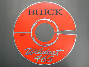 64 66 425 Buick Nailhead 465 Air Cleaner Decal Riviera Grand Sport Gs 1964 1966