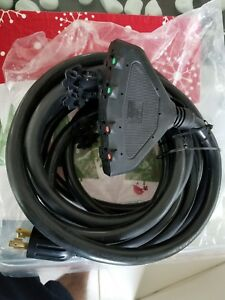 Generac 6112 20ft 30 Amp Portable Generator Cord W 4 Outlets