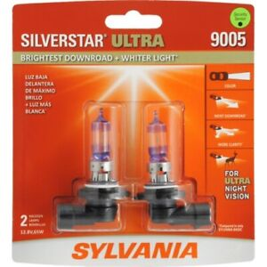 Sylvania 9005 Silverstar Ultra Night Vision Halogen Headlight Bulbs Pack Of 2