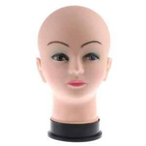 Mannequin Head Model Wig Hat Display Holder Stand Cosmetology Manikin Pvc