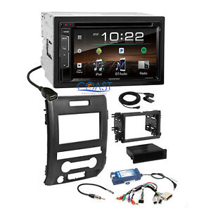 Kenwood Dvd Sirius Bluetooth Stereo Dash Kit Swc Amp Harness For 09 Ford F 150