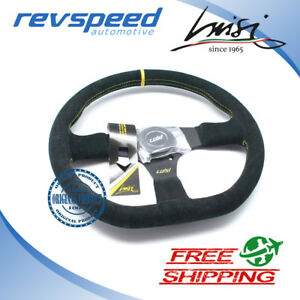 Luisi Italy Racing Stealth Corsa Steering Wheel Black Suede 355mm 14 00 Inch