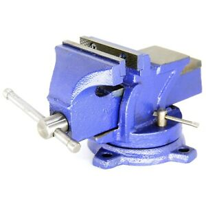 Heavy Duty Bench Vise Forged 360 Swivel Base With Lock Anvil Top 6 New
