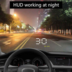 A1000 Hud Head Up Display Speed Warning Car Universal Over Speed Obdii Q7n8w