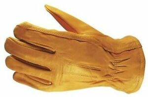 Wells Lamont Premium Leather Work Gloves 3 Pair Pack Large New
