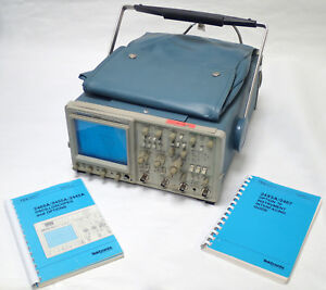 Tektronix 2465 300mhz Oscilloscope 4 Ch O scope W Manuals For Parts Or Repair