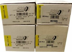 Perfect MC Style Coated Lead Wheel Weights MCN 1.25 - 2.00 oz. 25box  NEW