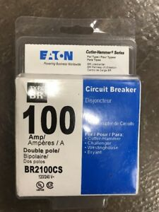 New Eaton Br2100cs Type Br 100 Amp Double Pole Circuit Breaker