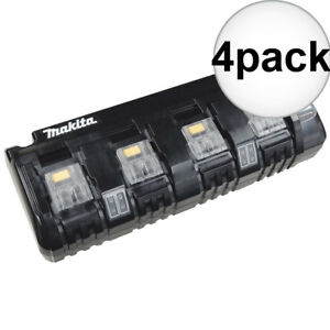 Makita Dc18sf 4 Port 18 Volt Lxt Cordless Battery Charger 4x New