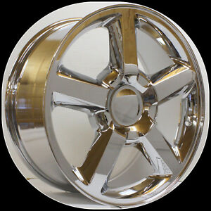 2000 2018 Chevy Silverado Suburban Tahoe Z71 Ltz Style Chrome 20 Inch Wheels Set