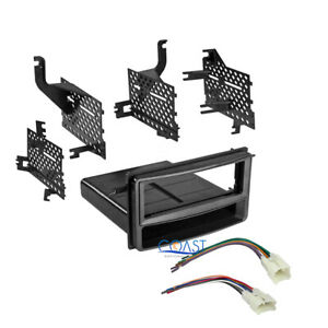 Car Stereo Radio Single Din Dash Kit W Wire Harness For 2007 14 Toyota Yaris
