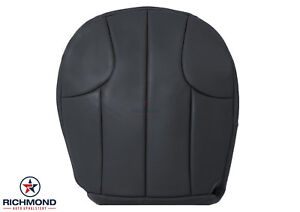 2000 Jeep Grand Cherokee Laredo Driver Side Bottom Leather Seat Cover Dark Gray
