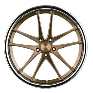 20 Vertini Rf1 5 Forged Bronze Concave Wheels Rims Fits Ford Mustang Gt Gt500
