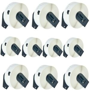 10roll Dk1201 White Shipping Labels W frame Cartridge For Brother Ql 1060n