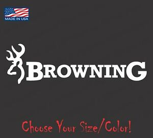 Browning Deer Hunting Vinyl Decal Logo Sticker Hunting Nra 4x4 Shooting Antlers
