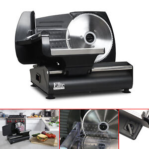 Electric Meat Slicer Heavy Duty Steel Deli Cheese Cutter Restaurant Food Slicer