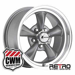 15 Inch 15x7 Retro Gray Wheels Rims For Chevy Camaro 1967 1981