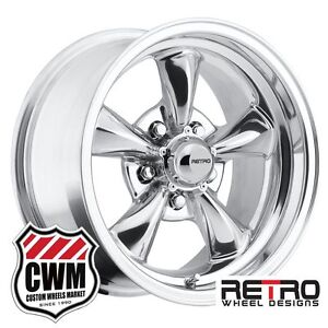 15 Inch 15x8 Polished Aluminum Wheels Rims For Chevy Camaro 1967 1981