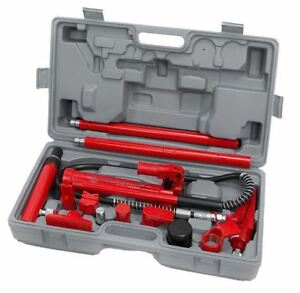 4 Ton Hydraulic Air Pump Lift Porta Power Ram Repair Auto Body Shop Tool Set