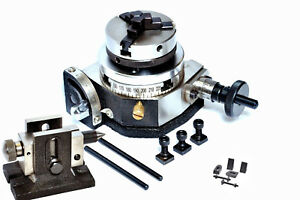 Rotary Table 3 Tilting 50mm Chuck Backplate Tailstock Clamping Kit