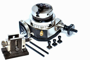 Rotary Table Tilting 3 W 65mm Lathe Chuck For Millingmachine With Tailstock