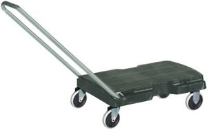 Dolly Flat Bed Cart Commercial 500 lb Capacity Black Resin Home Office Moving