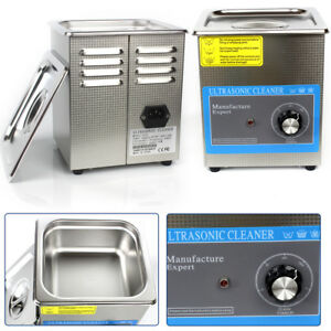 1 3l Ultrasonic Cleaners Stainless Industry Supplies Jewelry Timer Tank Bath Us