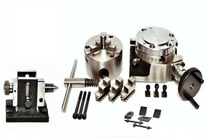 Rotary Table 4 With 80mm Self Centering Chuck With Tailstock Clamping Kit
