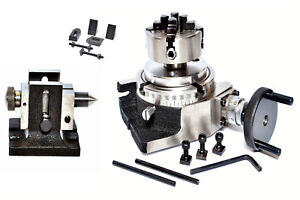 Rotary Table 4 70 Mm Independent Chuck Tailstock Clamping Kit