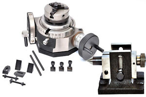 Rotary Table 4 Tilting With 65mm Chuck Single Bolt Tailstock