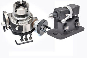 Rotary Table 4 Tilting With 70 Mm Independent Chuck Adjustable Tailstock