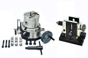 Rotary Table 4 Tilting 80 Mm Self Centering Chuck Backplate