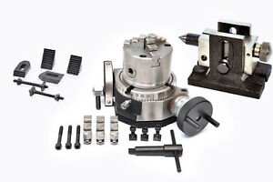 Rotary Table 4 Tilting 80 Mm Self Centering Chuck Clamping Kit